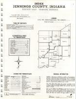 Index Map, Jennings County 1972